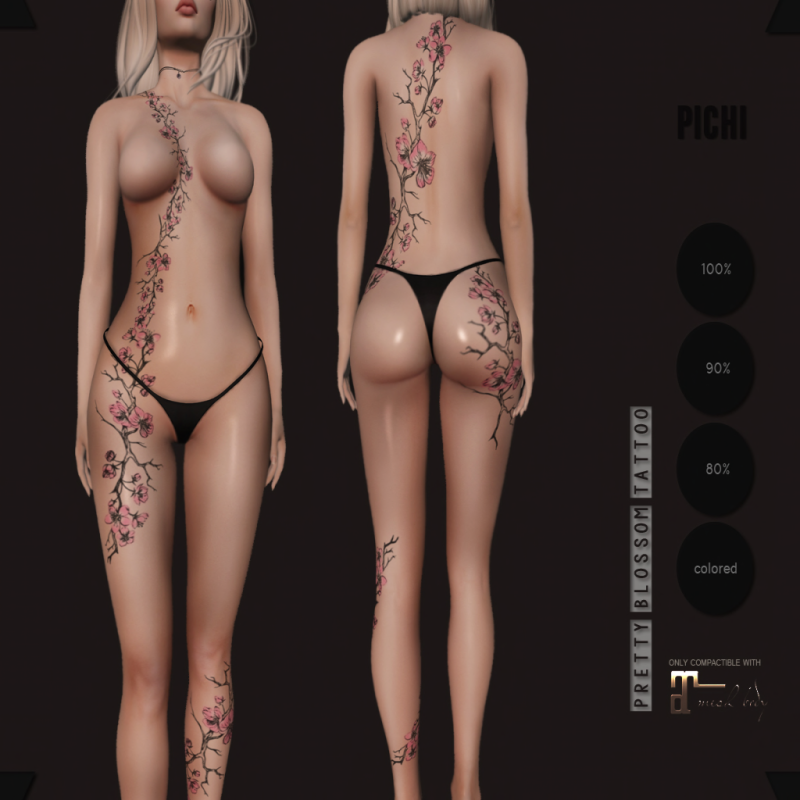 . p i c h i . pretty blossom tattoo AD
